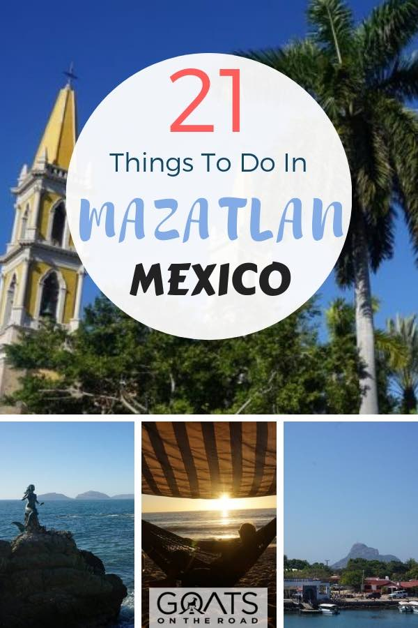 popular sites in Mazatlan Mexico with text overlay