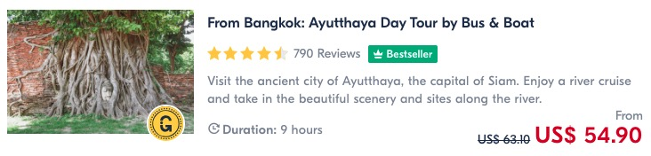 day trip from bangkok to Ayutthaya historical park