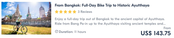 bike tour from bangkok to ayutthaya historical park