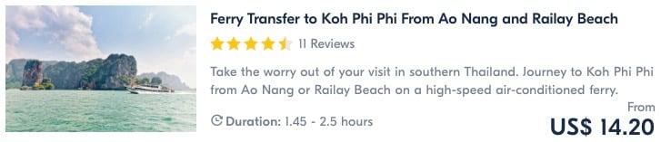 boat transfer to Koh Phi Phi