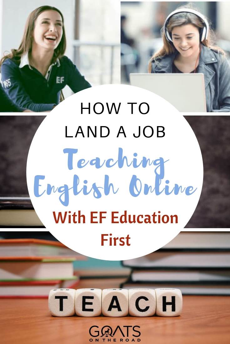 Women teaching english online with EF education first with text overlay