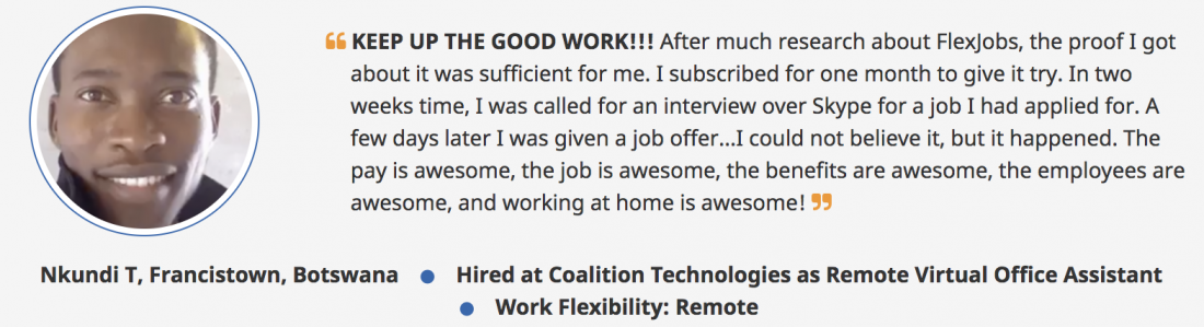 flexjobs review and testimonials