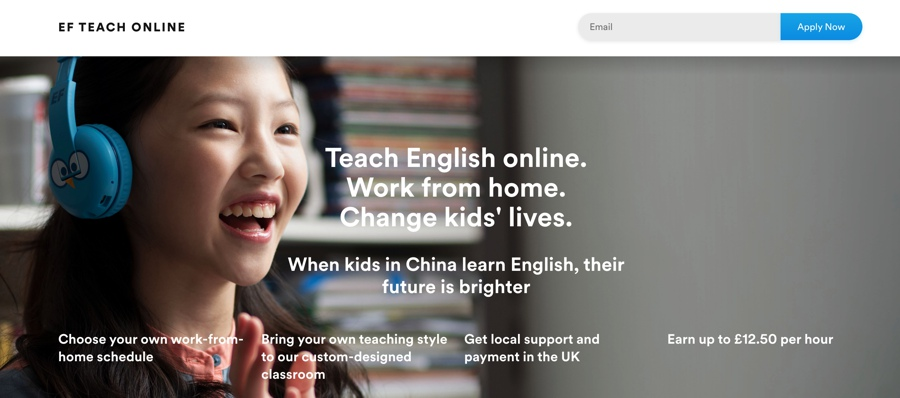 teach english with EF Education First online in the UK