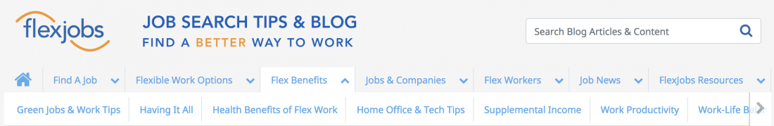working with flexjobs review of the company