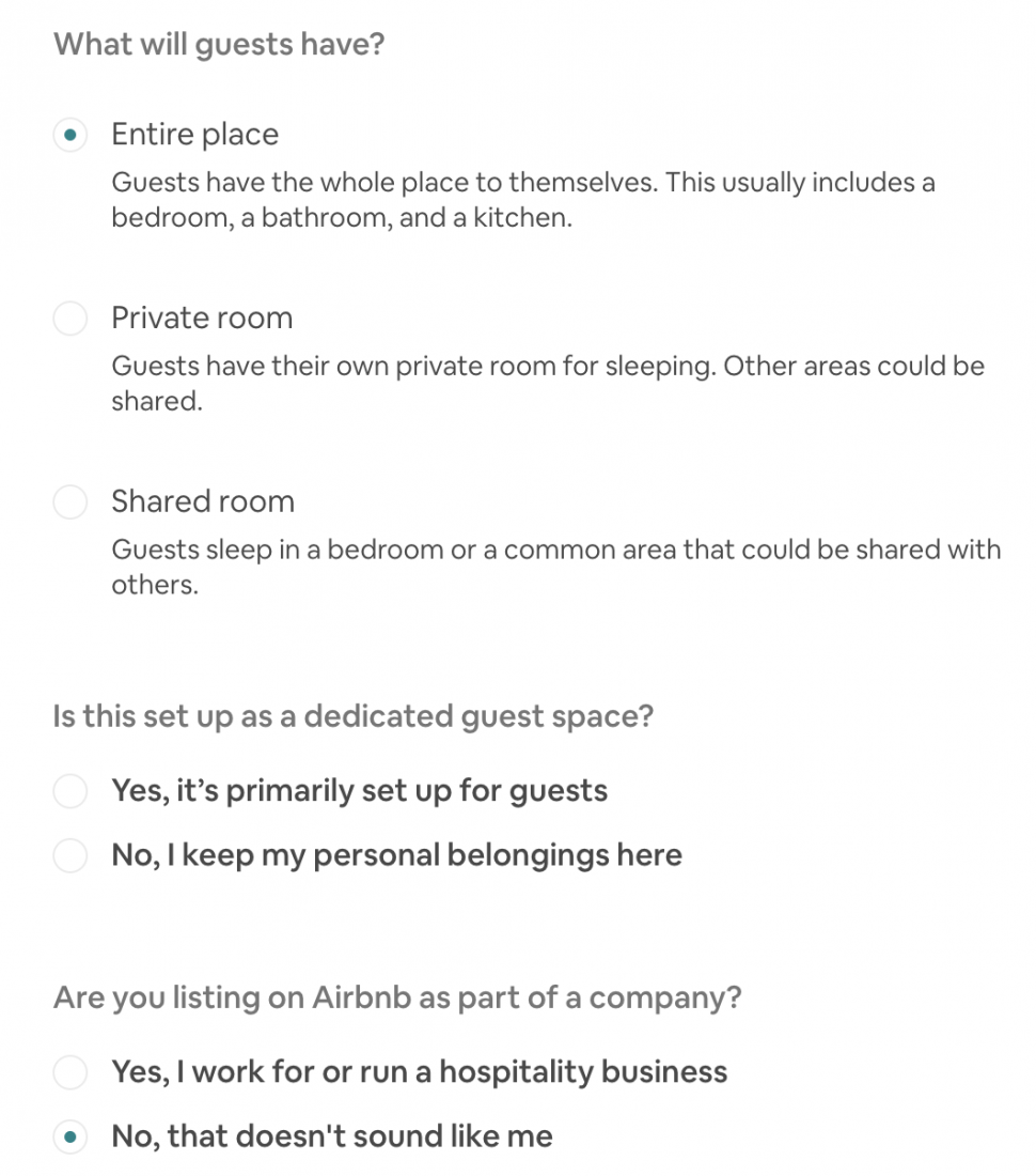 applying to become an air bnb host