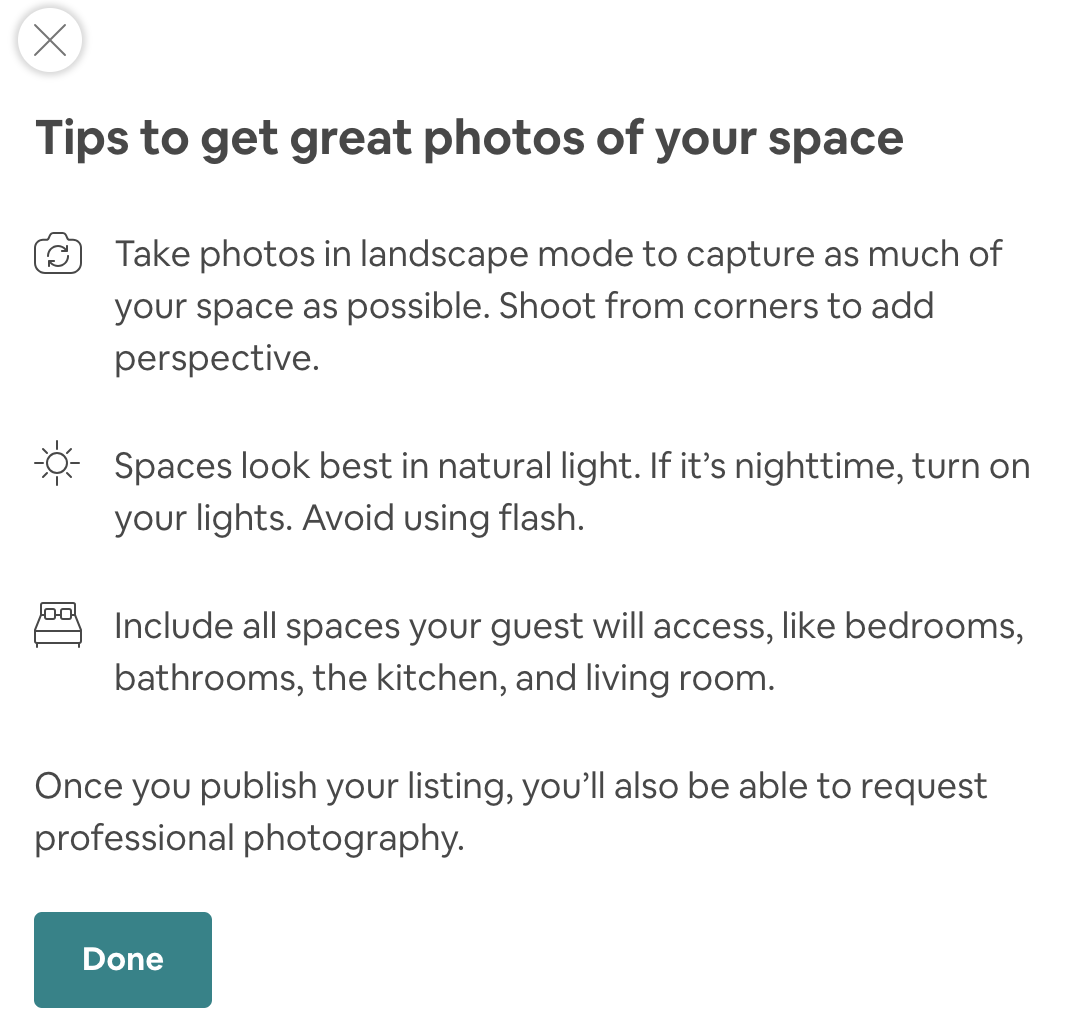 how to take best photos to become an airbnb host