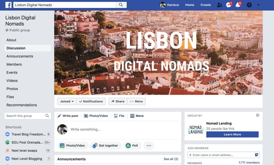 digital nomad life in lisbon