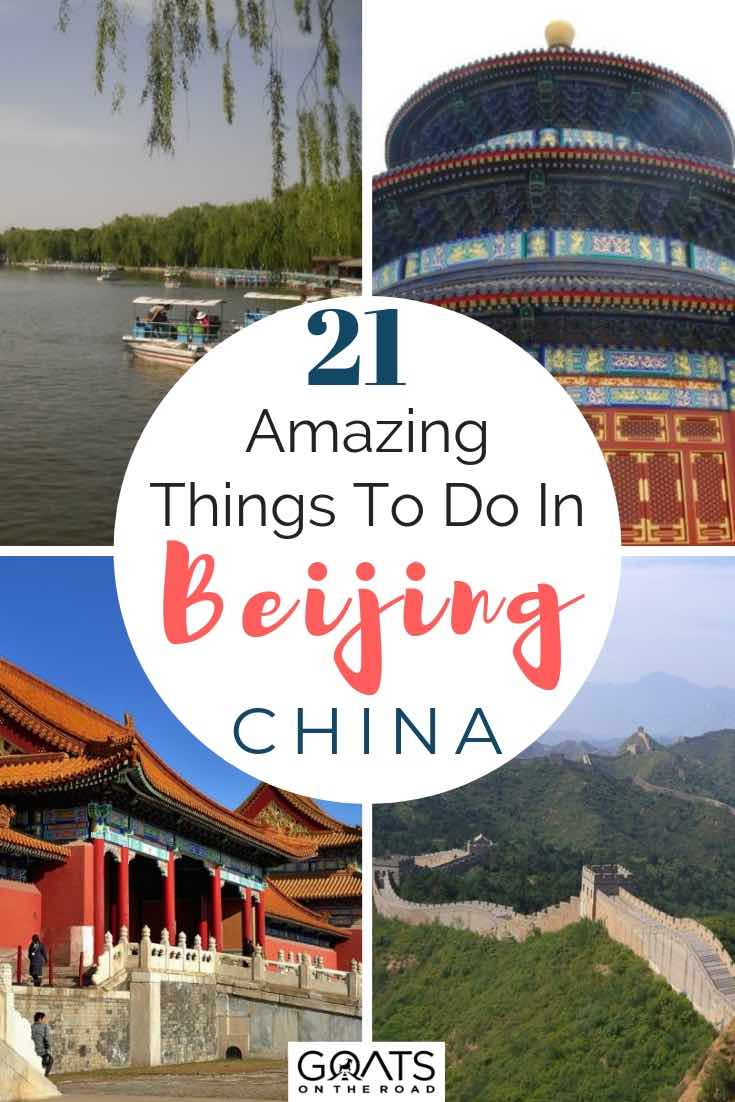 temples and great wall in bejing china with text overlay 21 amazing things to do in beijing
