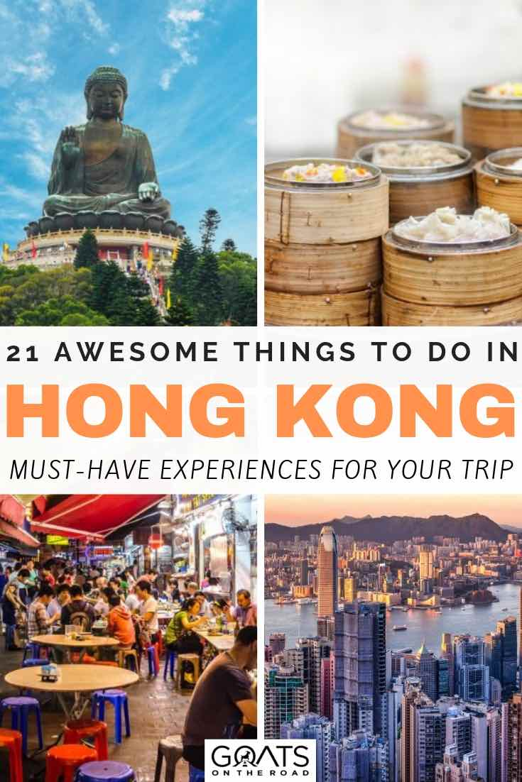 various images portraying hong kong with text overlay 21 awesome things to do in hong kong