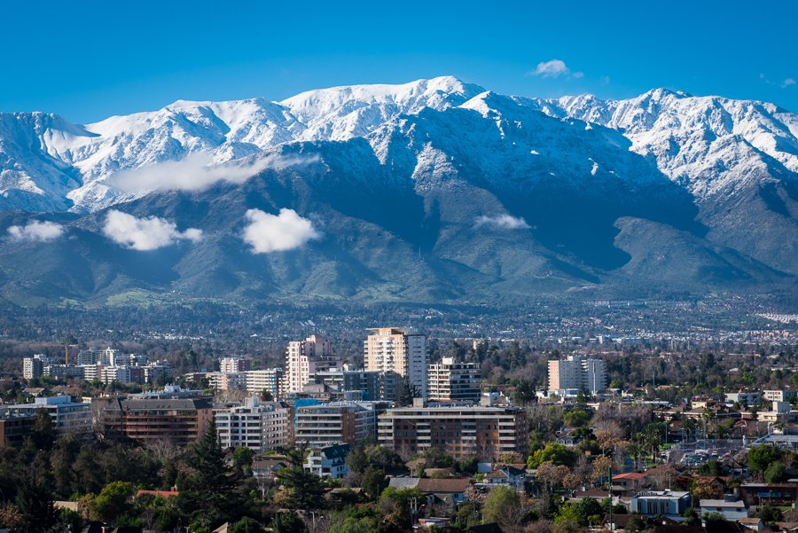 view of santiago chile and the mountains. this is the list of the best things to do in santiago