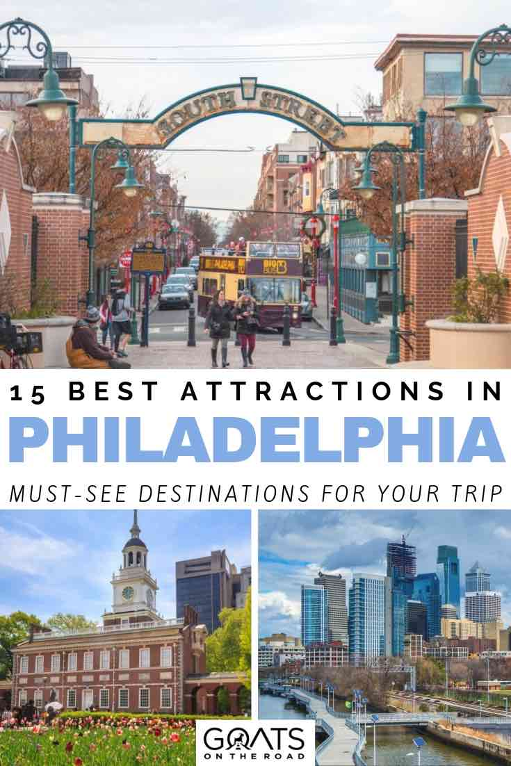 south street with text overlay 15 best attractions in philadelphia