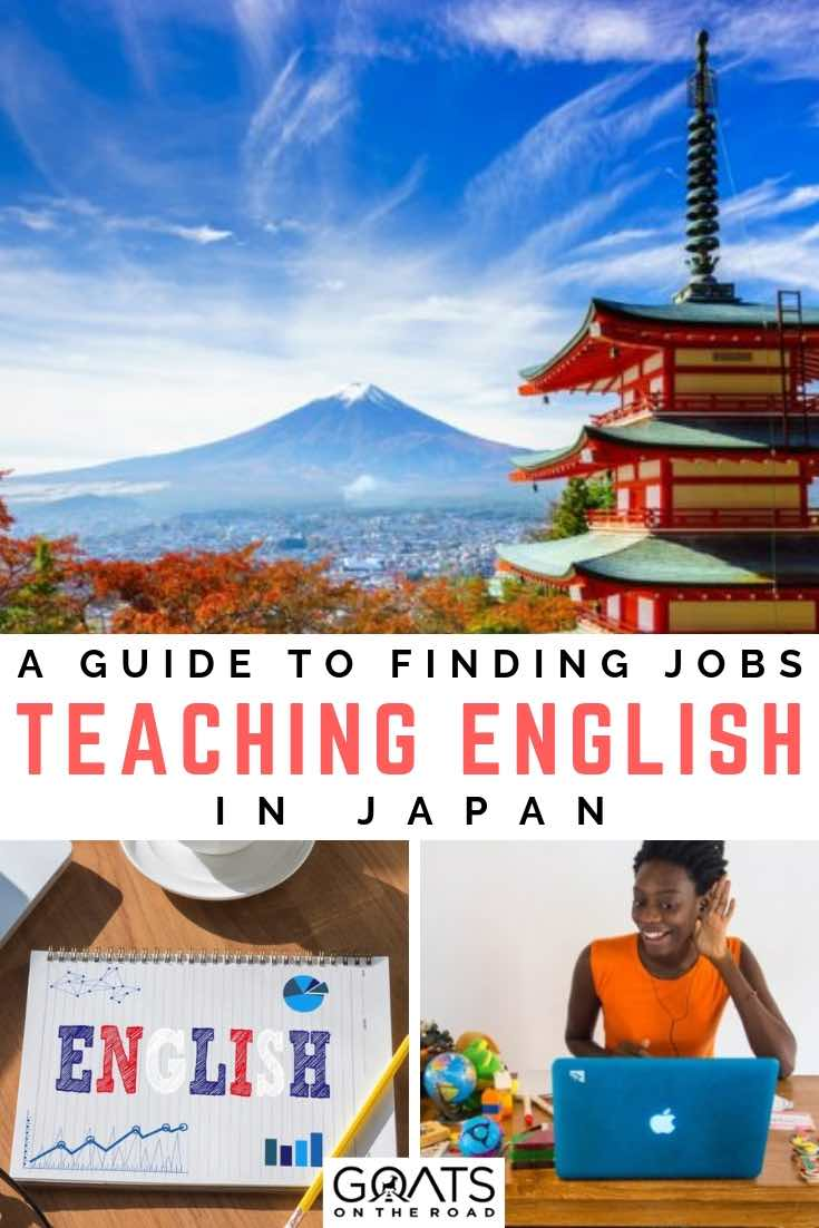 mt fuji with text overlay a guide to finding jobs teaching english in japan