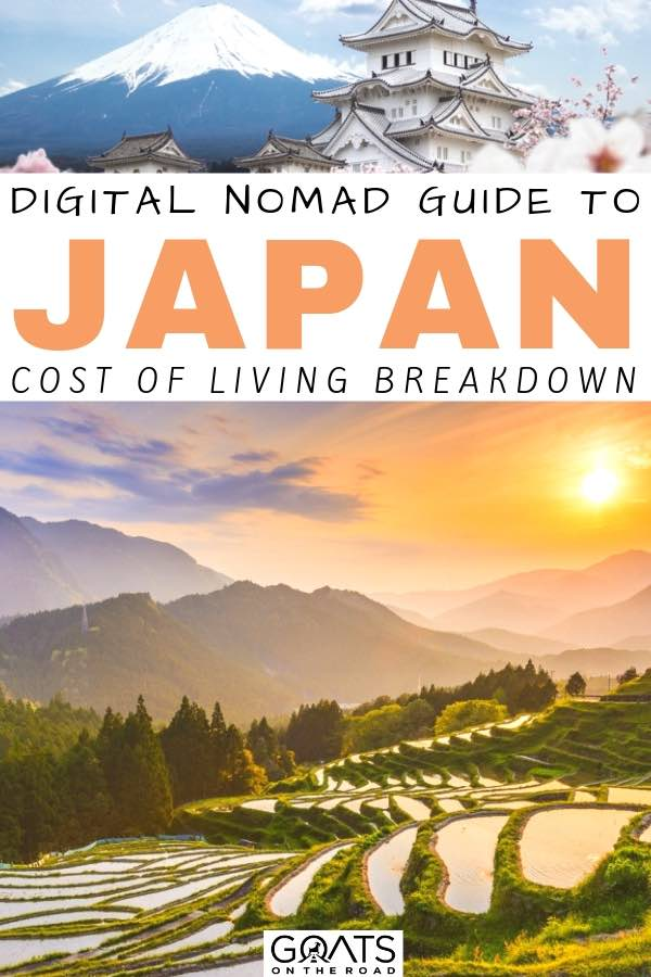 rice paddies with text overlay digital nomad guide to japan