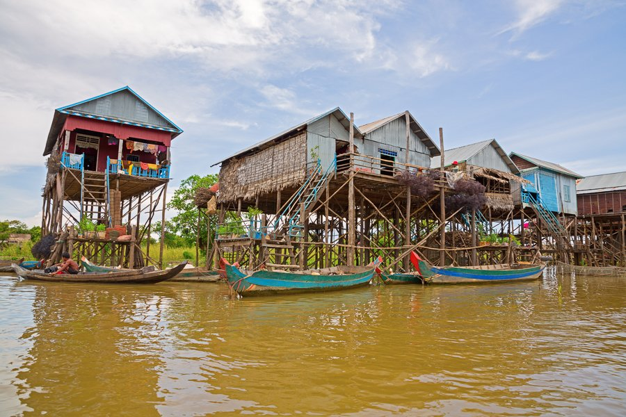 floating village just outside of siem reap
