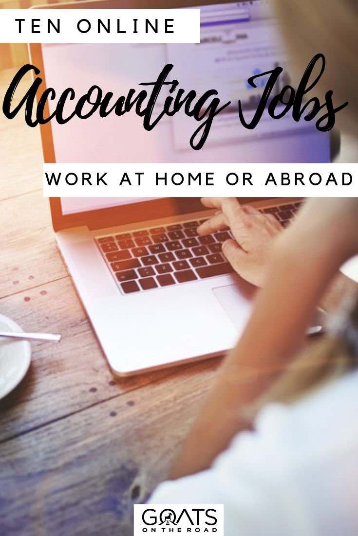 laptop with text overlay 10 online accounting jobs