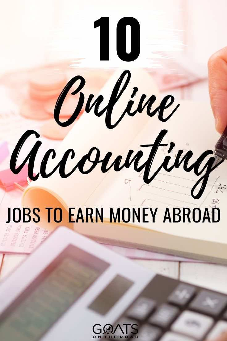 calculator with text overlay 10 online accounting jobs to earn money abroad