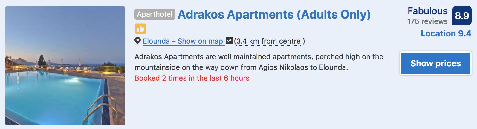 adrakos apartmenst elounda crete