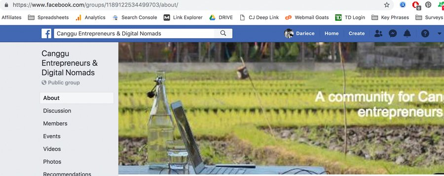 canggu digital nomad groups work and travel