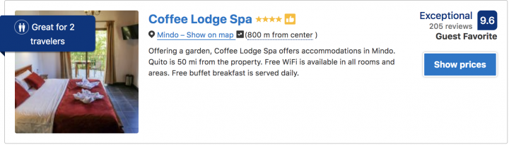 where to stay in mindo book the coffee lodge spa