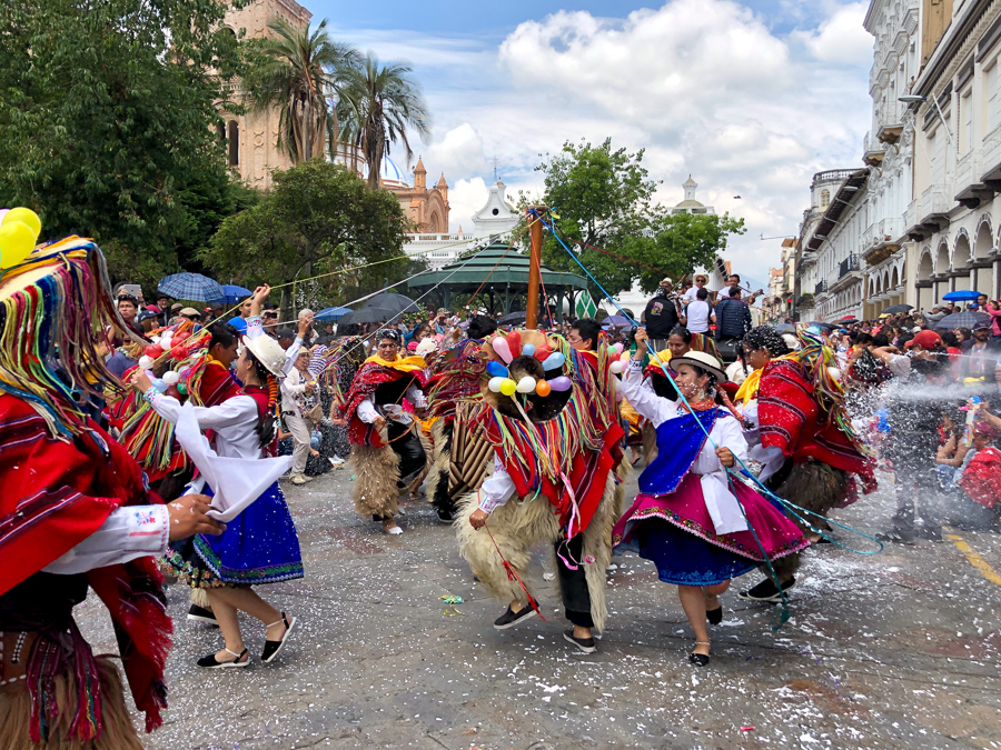 carnival in cuenca equador
