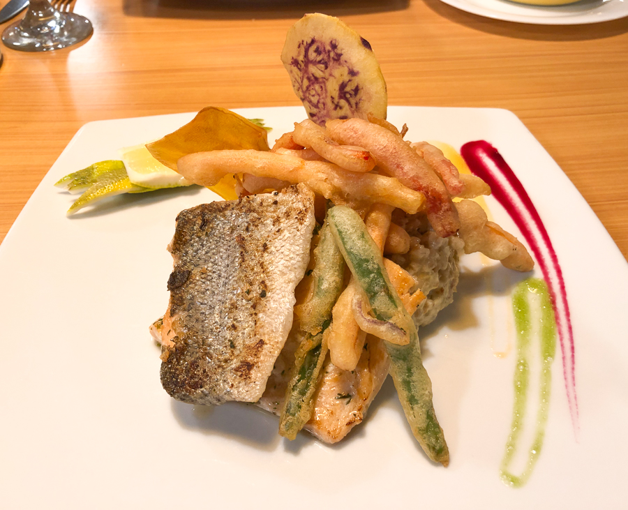 a trout dinner at miskay restaurant in the new town quito