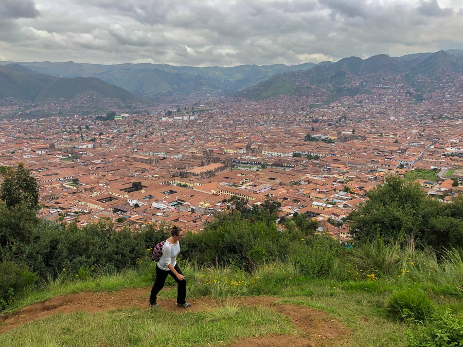 hiking from cusco to Sacsayhuaman peru