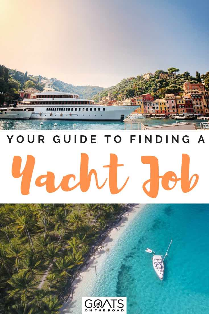 luxury yachts with text overlay your guide to finding a yacht job