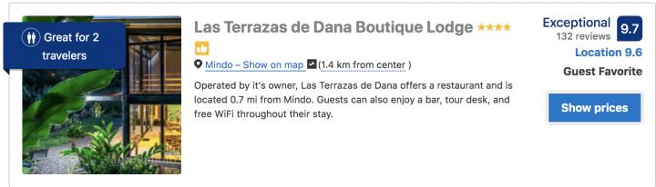 where to stay in mindo ecuador book hotel