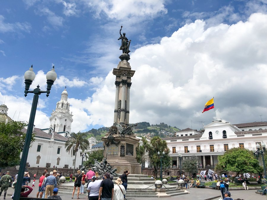 the plaza grande with monuments, palaces, churches and more