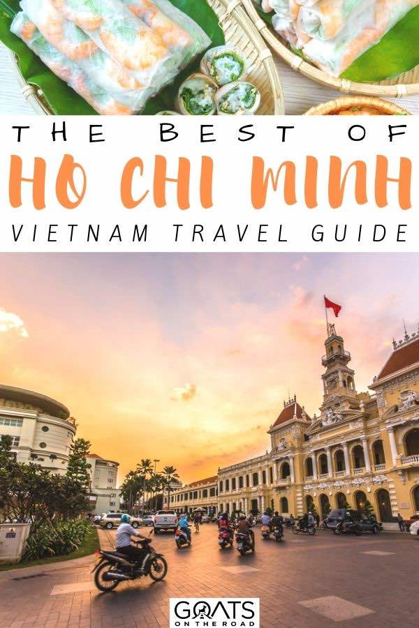 sunset behind the ho chi minh city with text overlay the best of ho chi minh