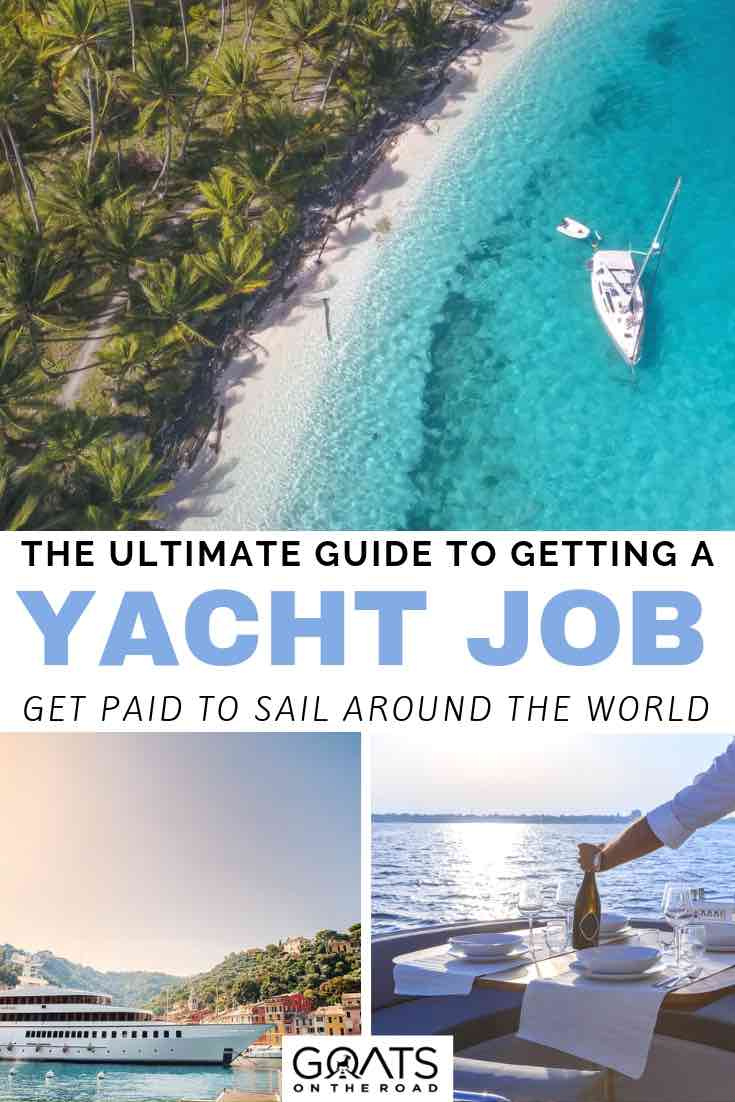 luxury boats with text overlay the ultimate guide to getting a yacht job