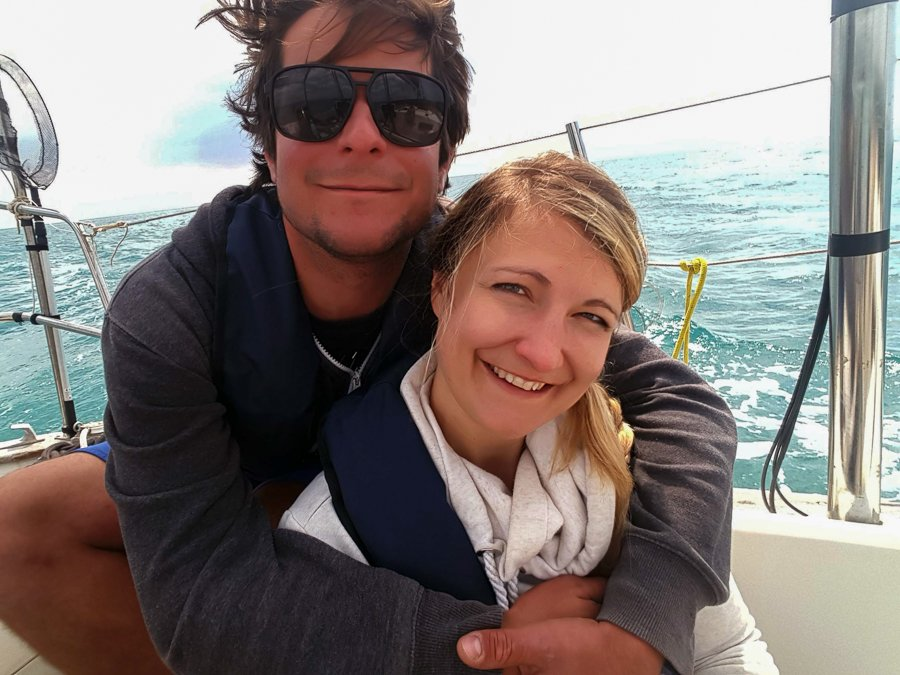 couple living in a sailboat full time