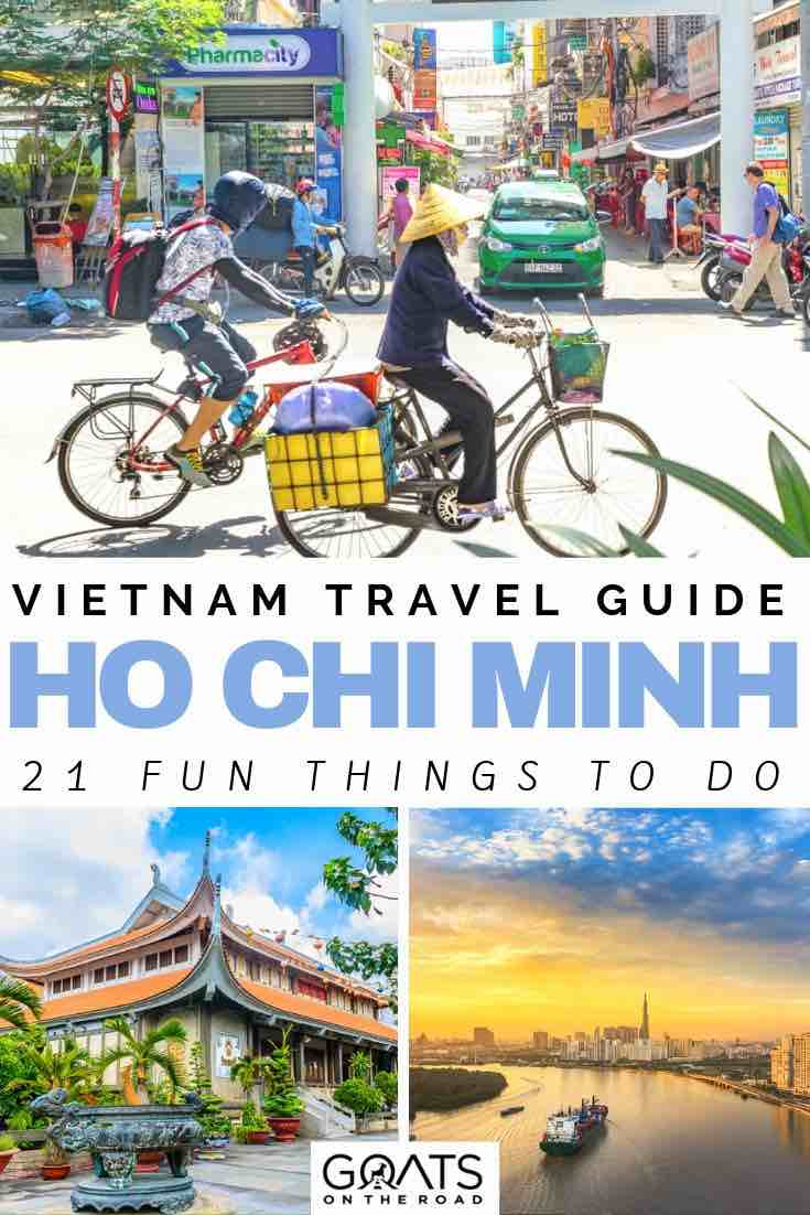 vietnam local bike riding with text overlay vietnam travel guide ho chi minh