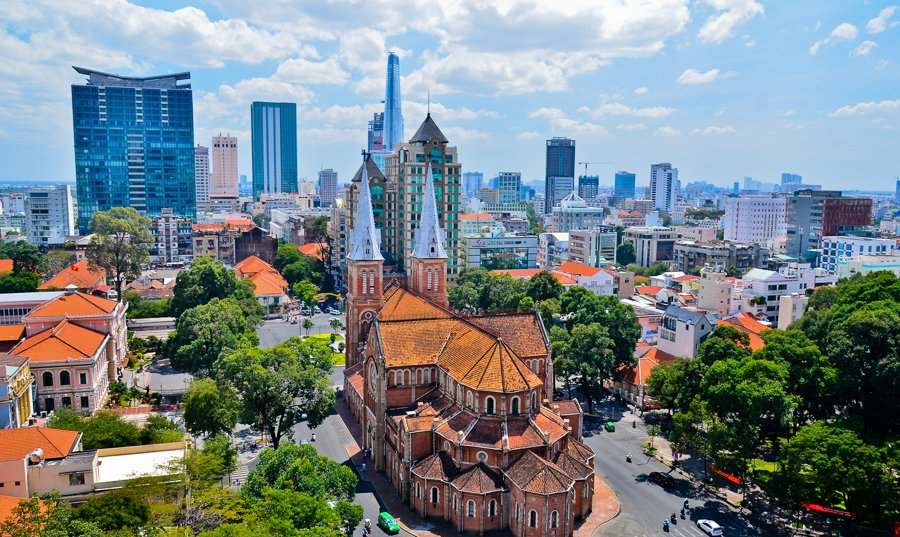 visiting the notre dame cathedral is one of the best things to do in ho chi minh