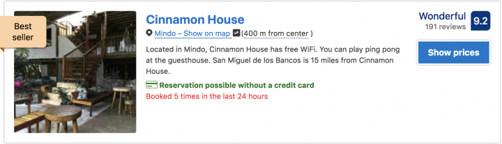 where to stay in mindo ecuador book the cinnamon house