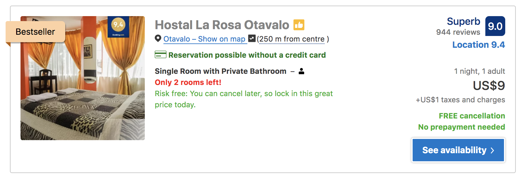 where to stay in otavalo hostal la rosa