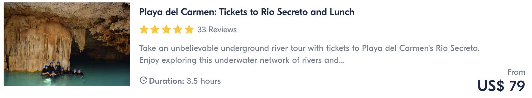 visiting rio secreto from playa del carmen mexico