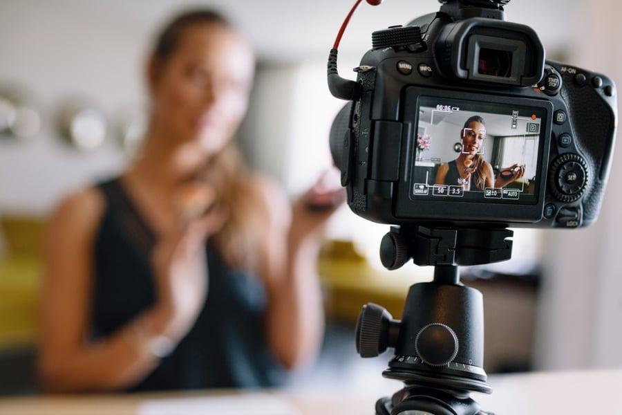 Vlogger Stock Image