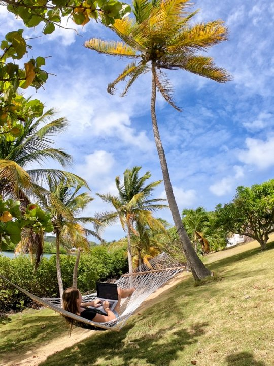 blogging from a hammock as a digital nomad