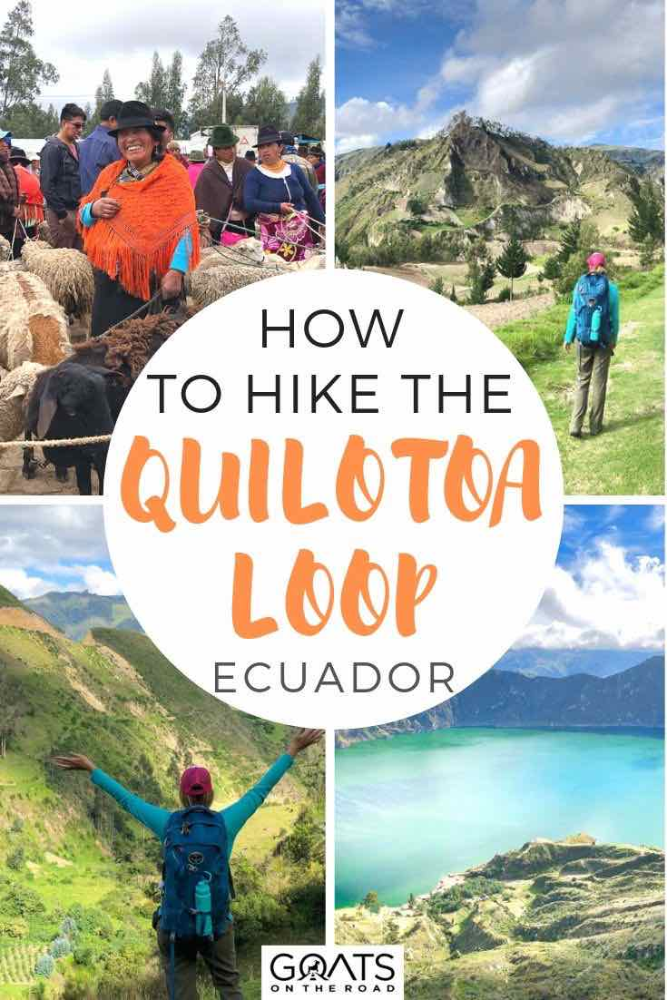 highlights of central highlands with text overlay how to hike the Quilotoa Loop ecuador