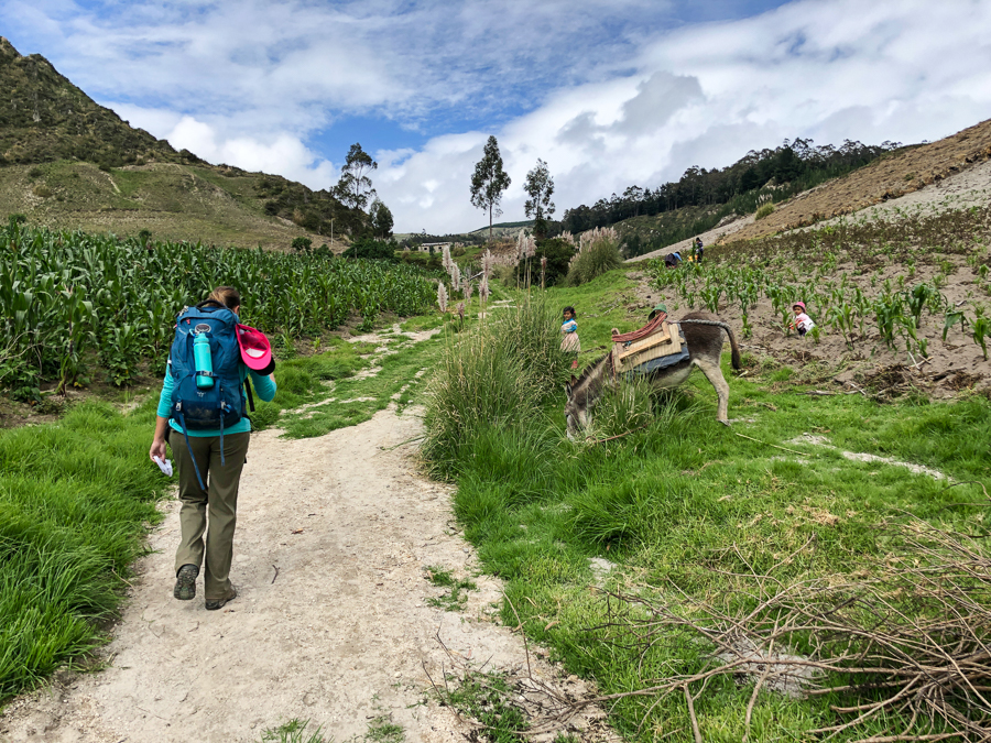 kids asking for money on laguna de quilotoa hike