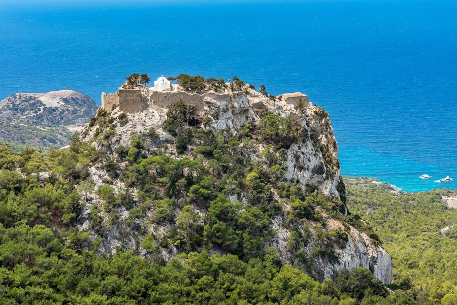 monolithos castle rhodes greece