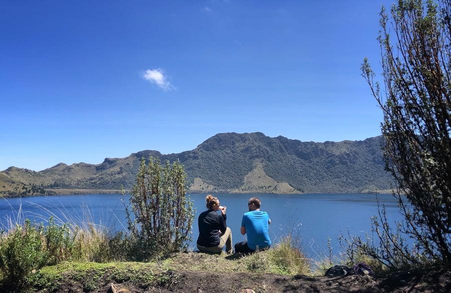 picnic at lagunas de mojanda in otavalo ecuador