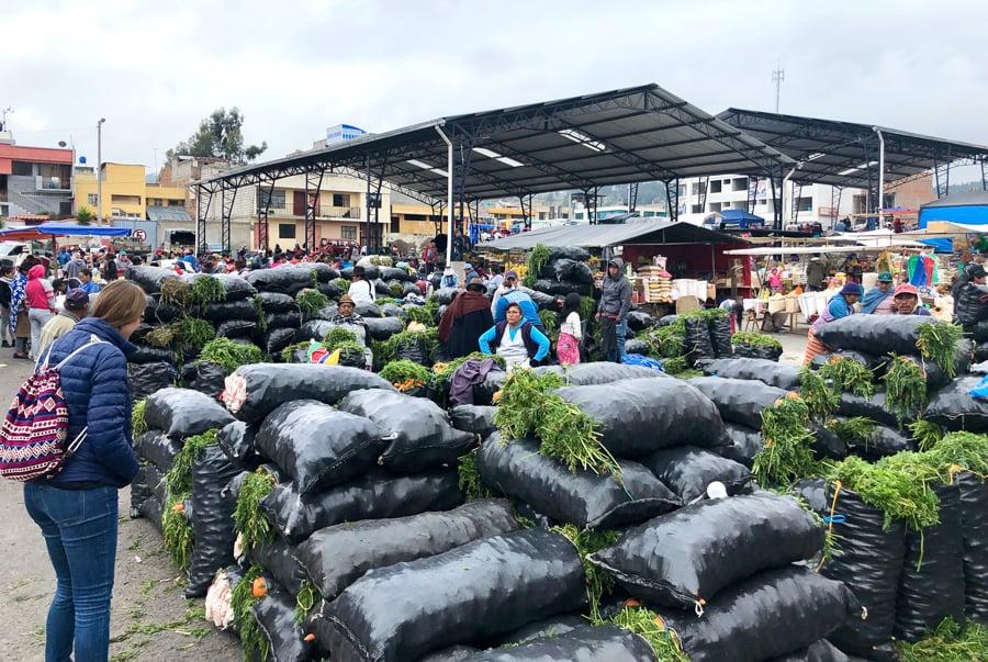 producd at the saquisili market ecuador