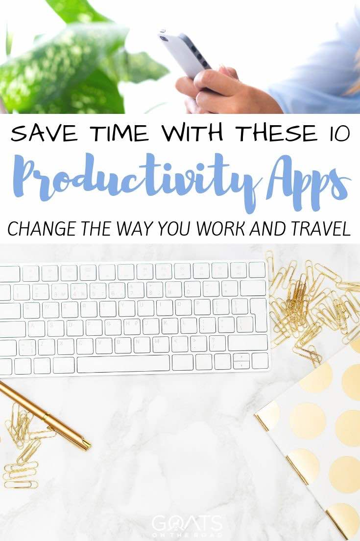 keyboard with text overlay save time with these 10 productivity apps