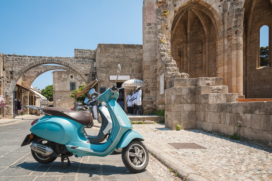 scooter in rhodes greece