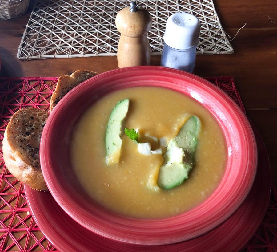 locro de papa soup in otavalo ecuador