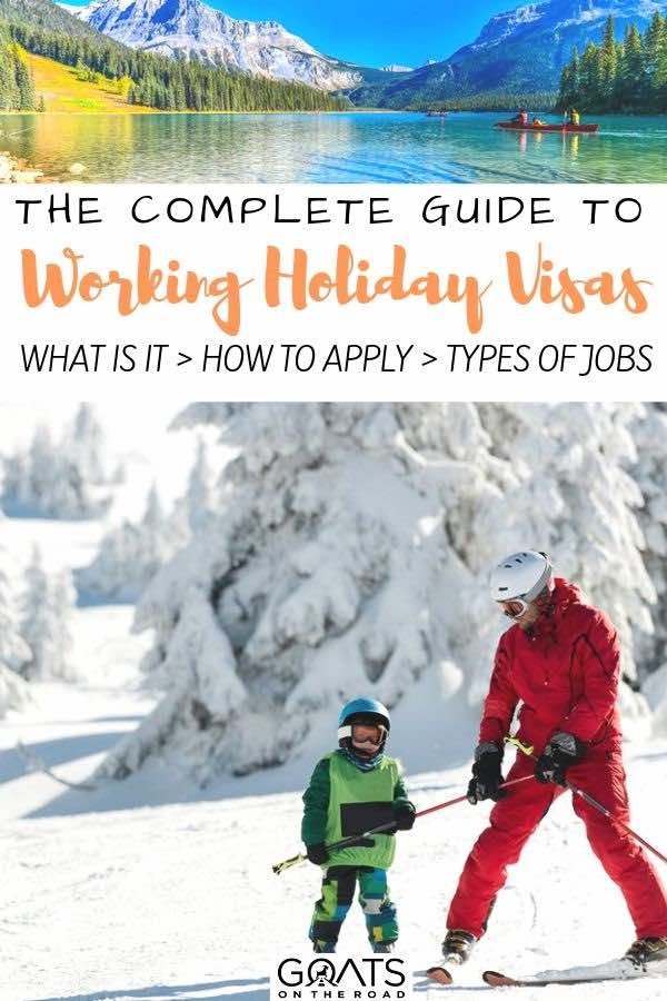 teaching skiing with text overlay the complete guide to working holiday visas