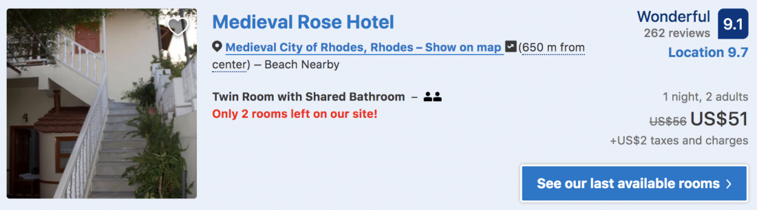 where to stay in rhodes rose hotel