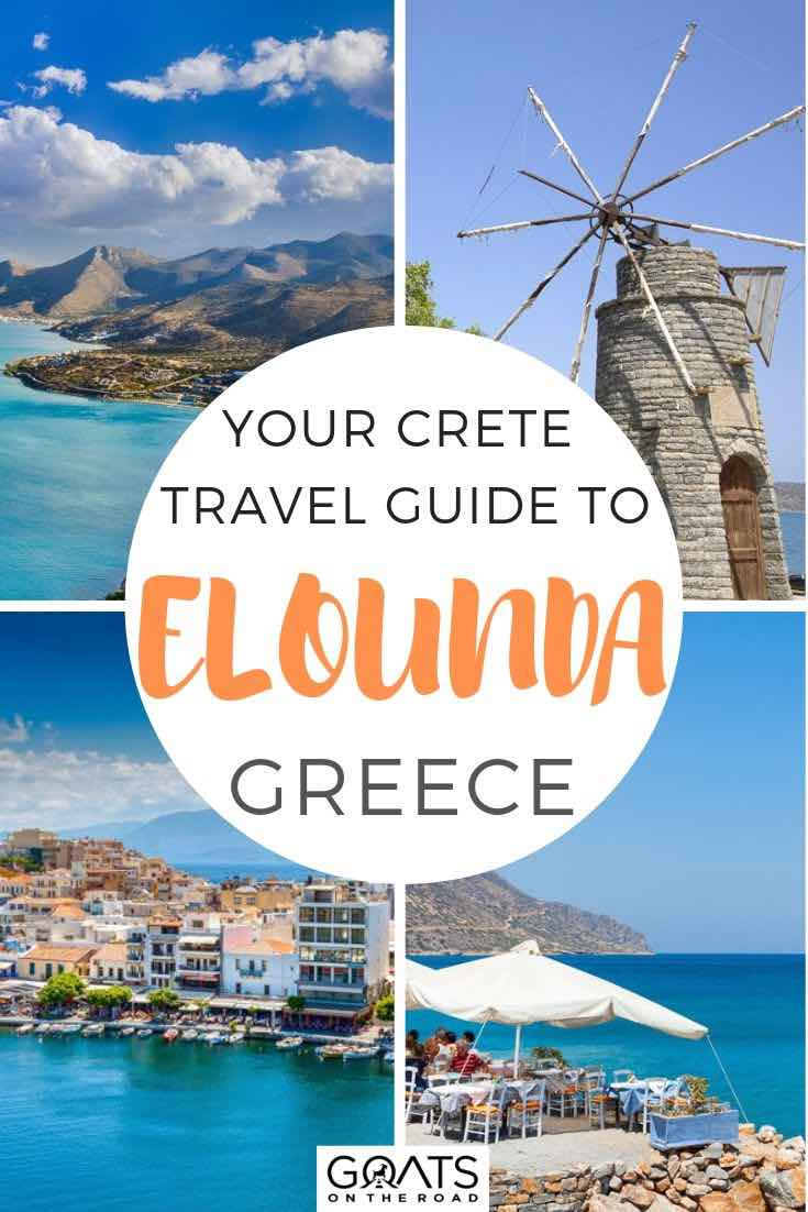 highlights of elounda with text overlay your Crete travel guide to elounda greece